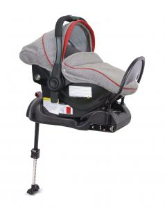 Fotelik 0-13 kg z bazą ISOFIX grey red - OUTLET