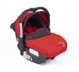 Fotelik 0-13 kg z bazą ISOFIX red - OUTLET